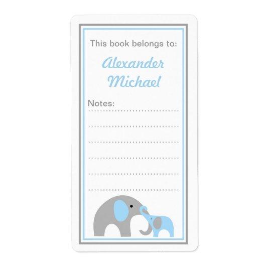Etiquetas do livro do Bookplate dos elefantes da m