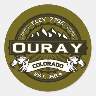 Etiquetas do logotipo de Ouray