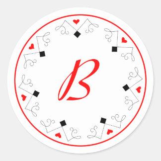 Etiquetas do monograma do jogador de Las Vegas do Adesivo