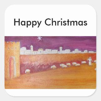 Etiquetas do Natal Adesivo Quadrado
