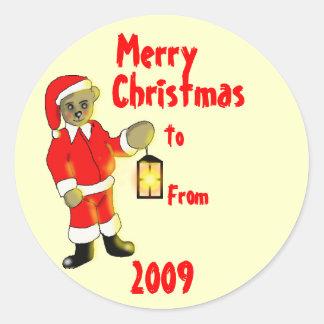 Etiquetas do presente de Natal Adesivos