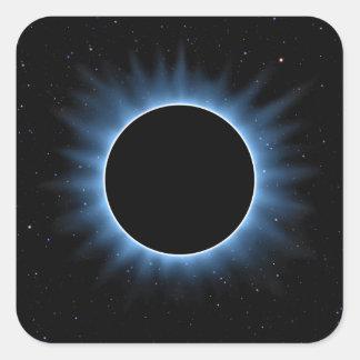 Etiquetas do quadrado do eclipse solar