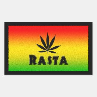 Etiquetas do retângulo da folha de Rasta Rastafari Adesivos Em Forma Retangular