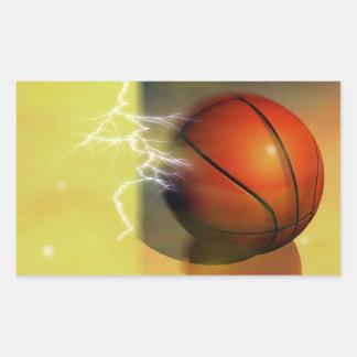 Etiquetas do retângulo do basquetebol adesivo retangular