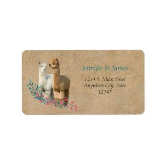 Etiquetas do retorno do endereço do casamento do etiqueta de endereço