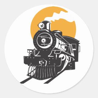 Etiquetas do trem do vapor