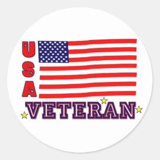 Etiquetas do veterano dos EUA Adesivo