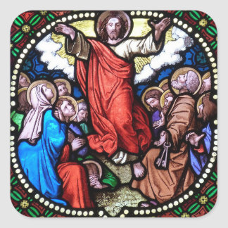 Etiquetas do vitral do Natal do Jesus Cristo