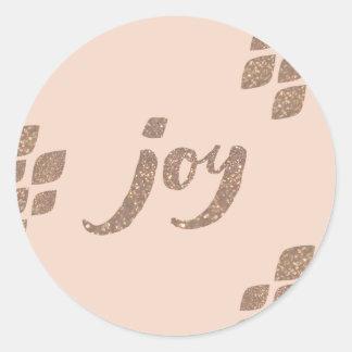 Etiquetas do Xmas da alegria do brilho do pêssego Adesivo
