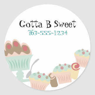 Etiquetas doces saborosos do cozinheiro chefe de adesivo redondo