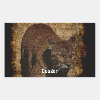 Etiquetas dos animais selvagens do gato grande de