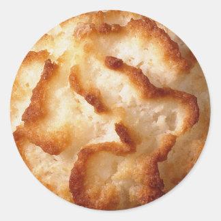 Etiquetas dos biscoitos do Macaroon de coco