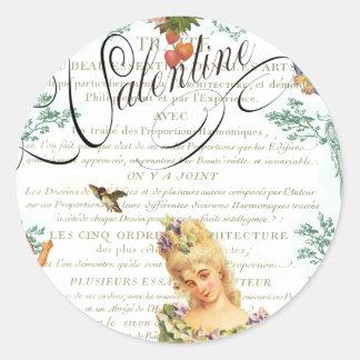 Etiquetas dos namorados de Marie Antoinette Adesivos Em Formato Redondos