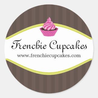 Etiquetas elegantes da padaria do cupcake adesivo