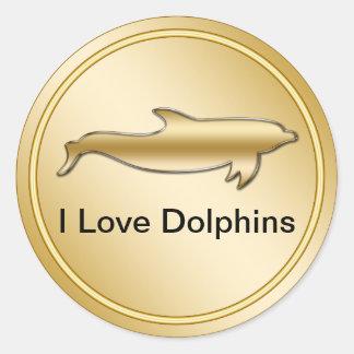 Etiquetas elegantes do golfinho adesivo