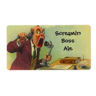 Etiquetas engraçadas da cerveja inglesa do chefe etiqueta de frete