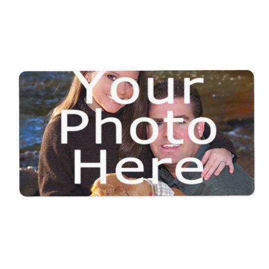 Etiquetas feitas sob encomenda da foto etiqueta de frete