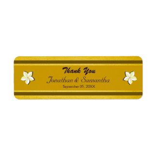 Etiquetas florais do favor do favor do casamento etiqueta endereço de retorno