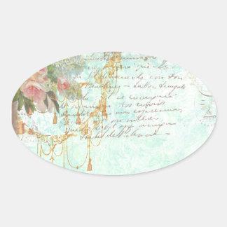 Etiquetas francesas dos Tag do Bluebird & das Adesivo Oval