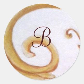 etiquetas iniciais do rolo por bbillips adesivos redondos