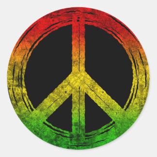 Etiquetas legal do símbolo de paz de Rasta da