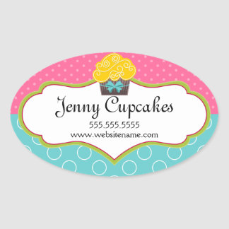 Adesivos para promover os seus cupcakes caseiros ou profissionais. O seu bolo de chocolate terá a sua marca.