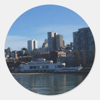 Etiquetas marítimas do museu de San Francisco