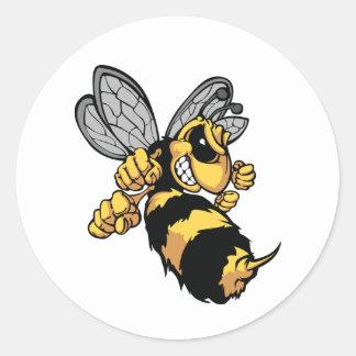 Etiquetas muito irritadas da abelha adesivo