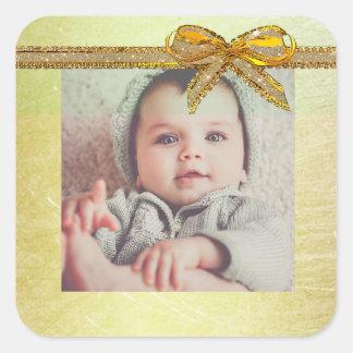 Etiquetas neutras da foto do bebê do género do