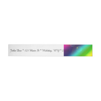 Etiquetas Para Envelope Arco-íris borbulhante
