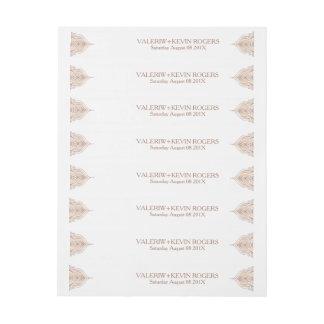 Etiquetas Para Envelope Decoração ornamentado do laço do Rosa-ouro da