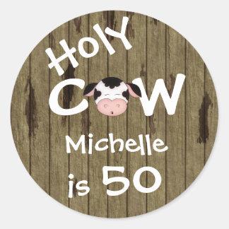 Etiquetas personalizadas do aniversário da vaca