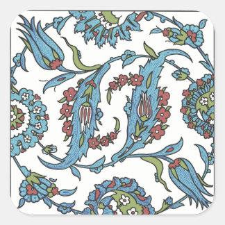 Etiquetas quadradas florais islâmicas do azulejo adesivo quadrado
