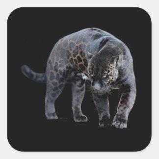 Etiquetas quadradas pequenas de Jaguar Diablo