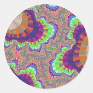 Etiquetas redondas da engrenagem do arco-íris de