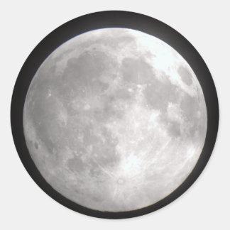 Etiquetas redondas da Lua cheia
