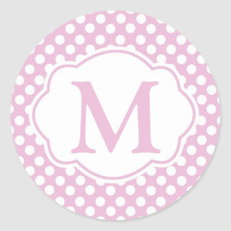 Etiquetas redondas das bolinhas Dotty cor-de-rosa Adesivo Redondo