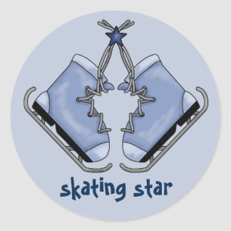 Etiquetas redondas de patinagem bonitos da estrela