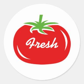 Etiquetas redondas e aferidores do tomate vermelho