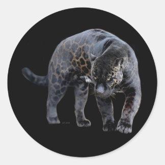 Etiquetas redondas pequenas de Jaguar Diablo