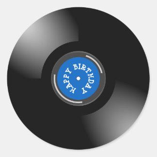 Etiquetas retros do registro do álbum do vinil do
