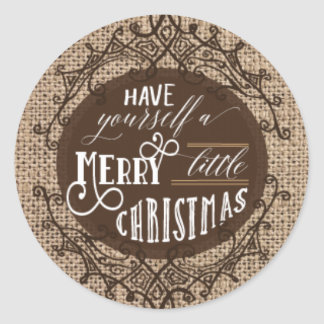 Etiquetas rústicas do Natal de serapilheira Adesivo