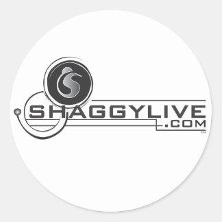 etiquetas shaggylive adesivos em formato redondos