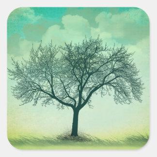 Etiquetas solitárias da árvore