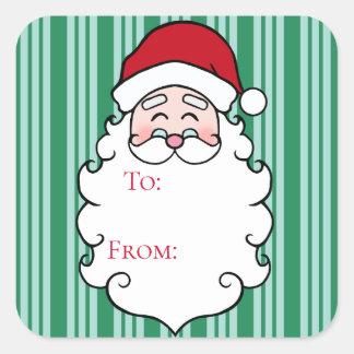Etiquetas verdes do Tag do presente de Papai Noel