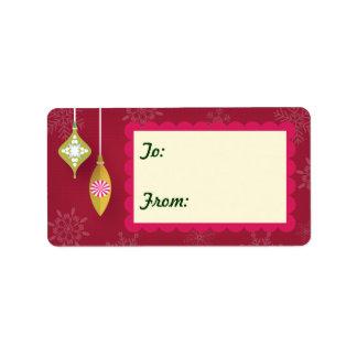 etiquetas vermelhas do Tag do presente dos Etiqueta De Endereço