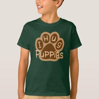 Eu abraço seres humanos do abraço de Puppies/I Camiseta