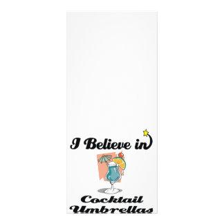 eu acredito em guarda-chuvas do cocktail 10.16 x 22.86cm panfleto