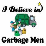 eu acredito em homens de lixo escultura de fotos