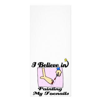eu acredito em pintar meus toenails 10.16 x 22.86cm panfleto
